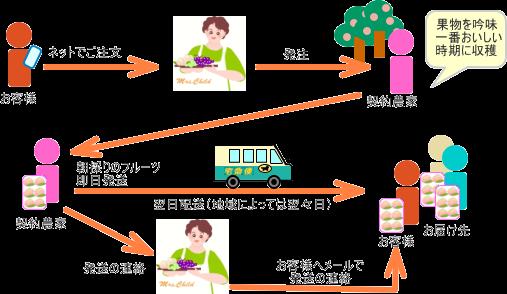 発送までの流れ図